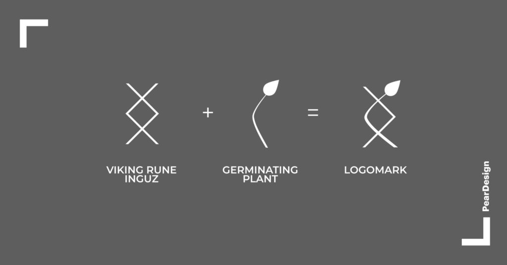Logomark elements and final picture