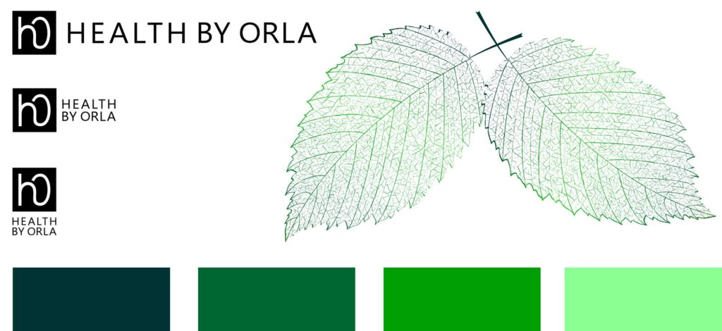 Health by Orla logo and colours